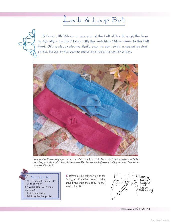 Cute belt to sew