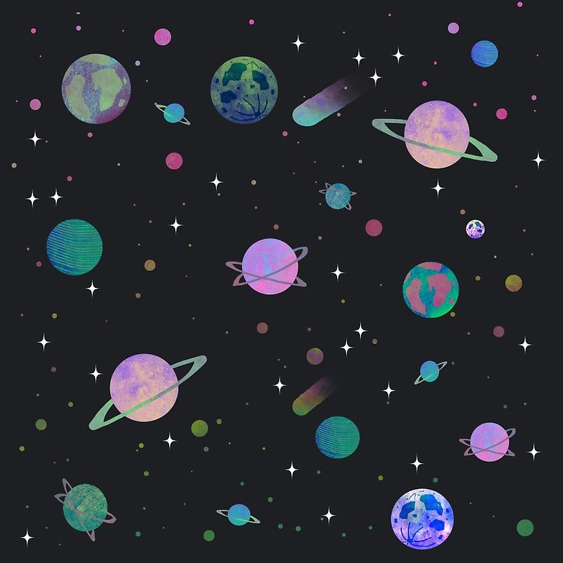 Outer space art prints by vitag redbubble patterns for Outer space poster design