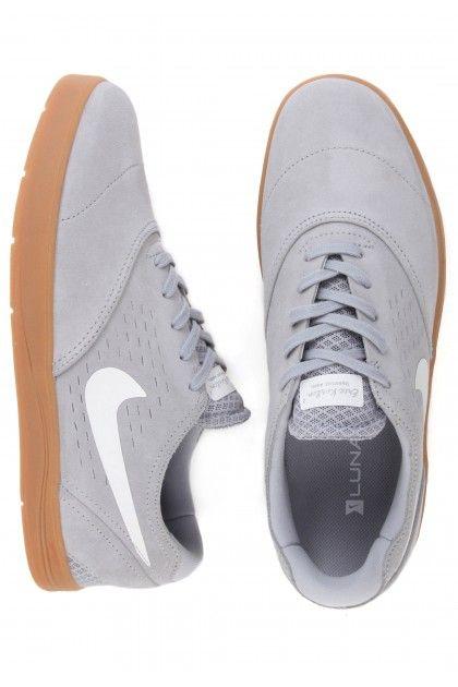 1152348adfc Nike Eric Koston 2 Shoes - Wolf Grey White Gum Medium Brown  90.00 ...