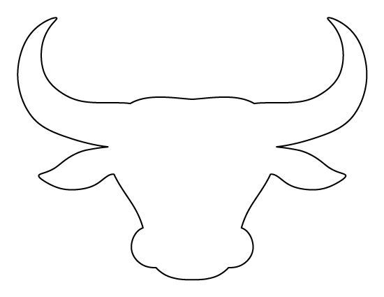 Bull head pattern Use the printable outline for crafts, creating - outline template