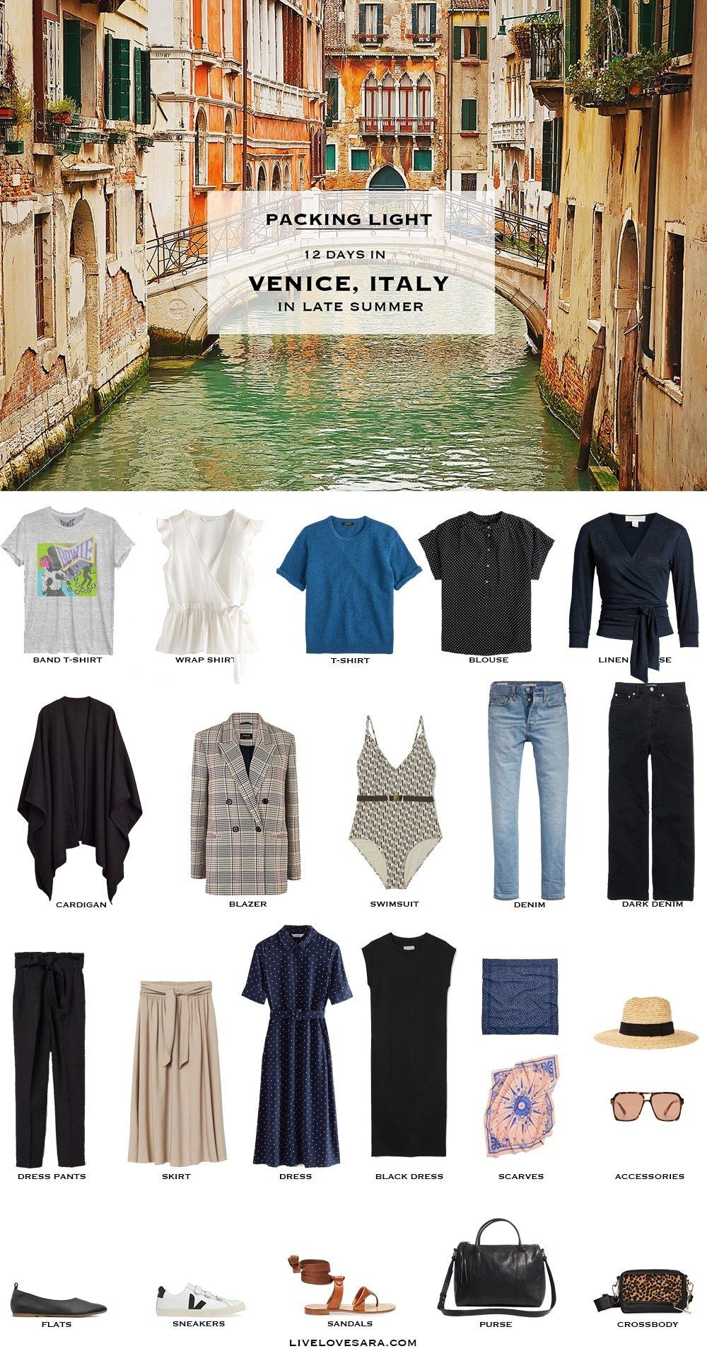 What to Pack for Venice in Late Summer and Early Fall #travelwardrobesummer