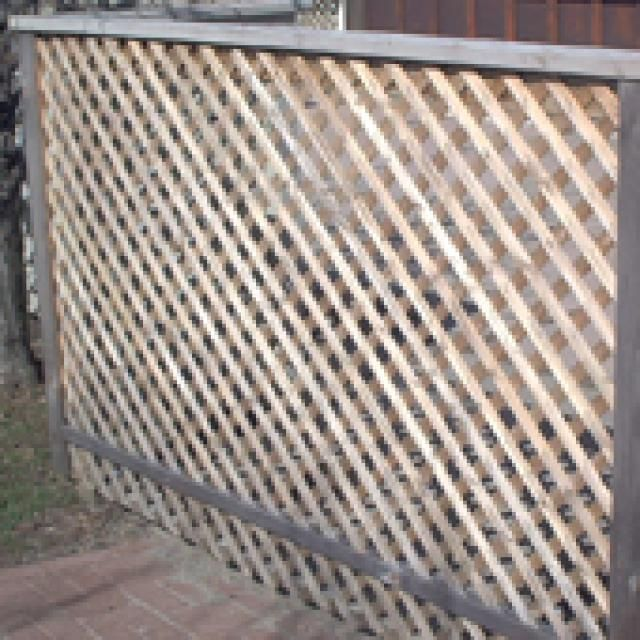 Wood Lattice Ideas: Build A Simple Lattice Screen To Hide That Eyesore You