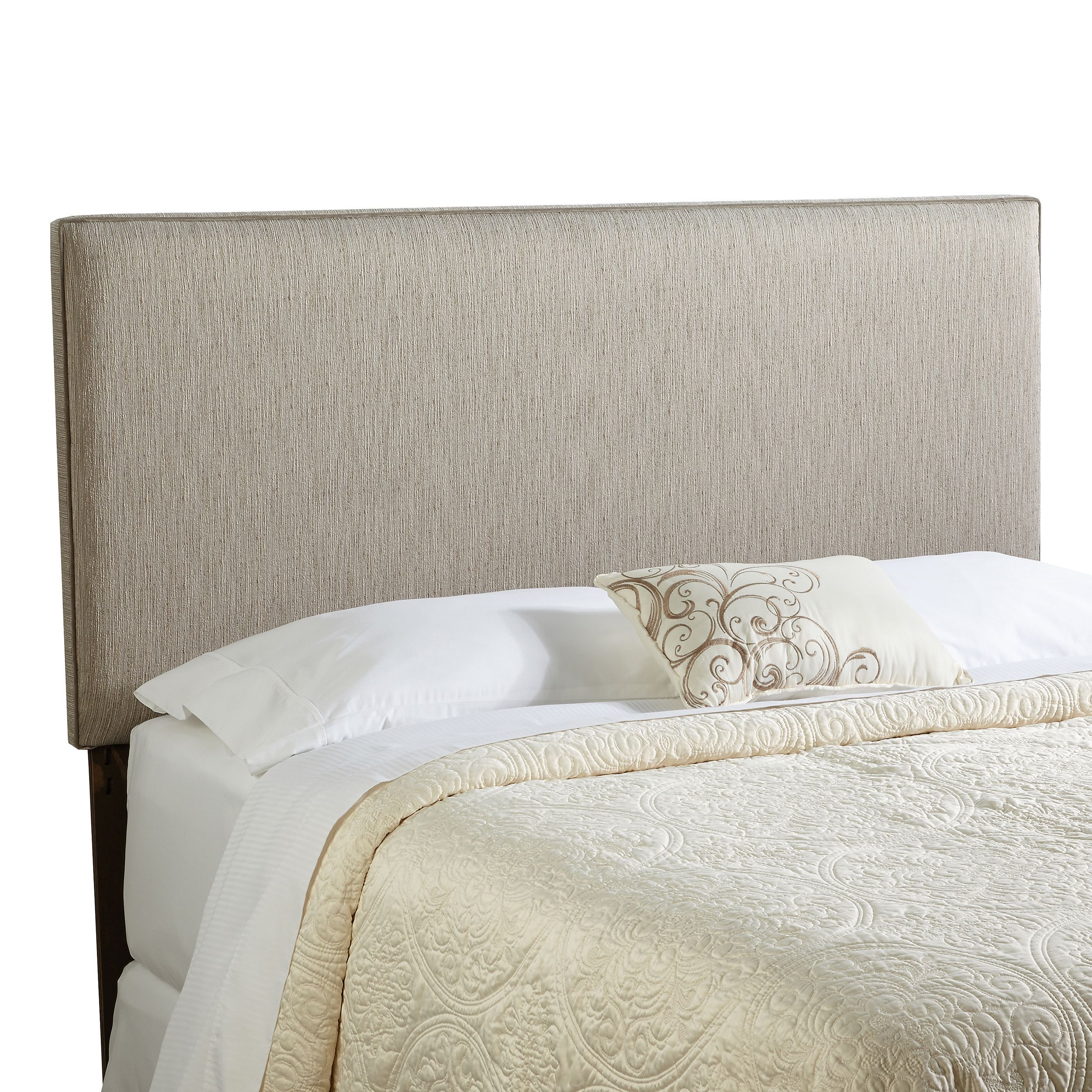 Humble + Haute Bingham King Size Textured Grey Upholstered Headboard  (OSHB3222)