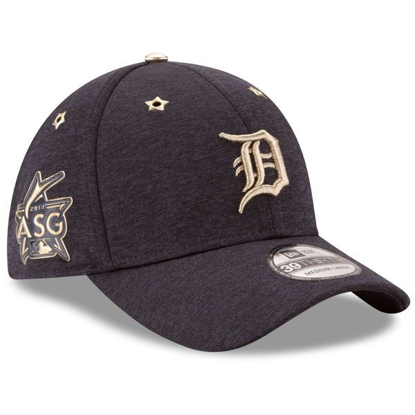 a95aaa0d2c5 Men s Detroit Tigers New Era Heathered Navy 2017 MLB All-Star Game Side  Patch 39THIRTY