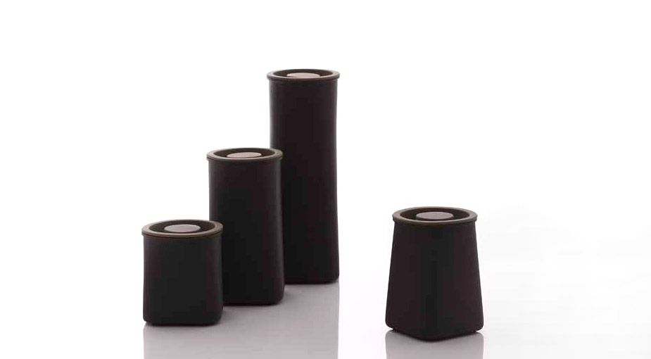 Abundance Air Canister Black Terra Cotta Kitchen Canisters