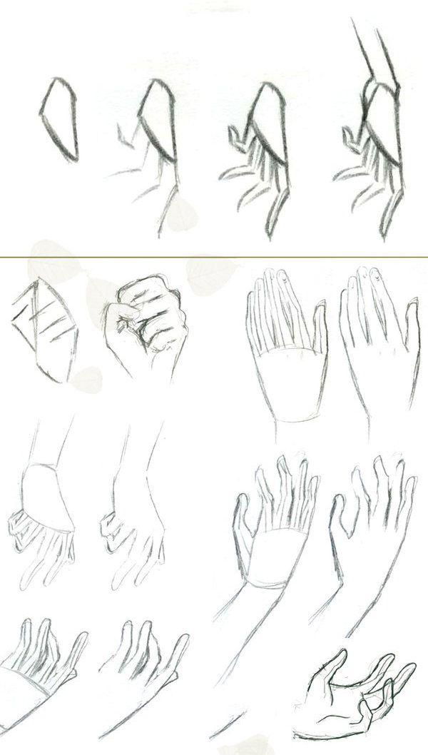 Из коллекции «Рисование рук»