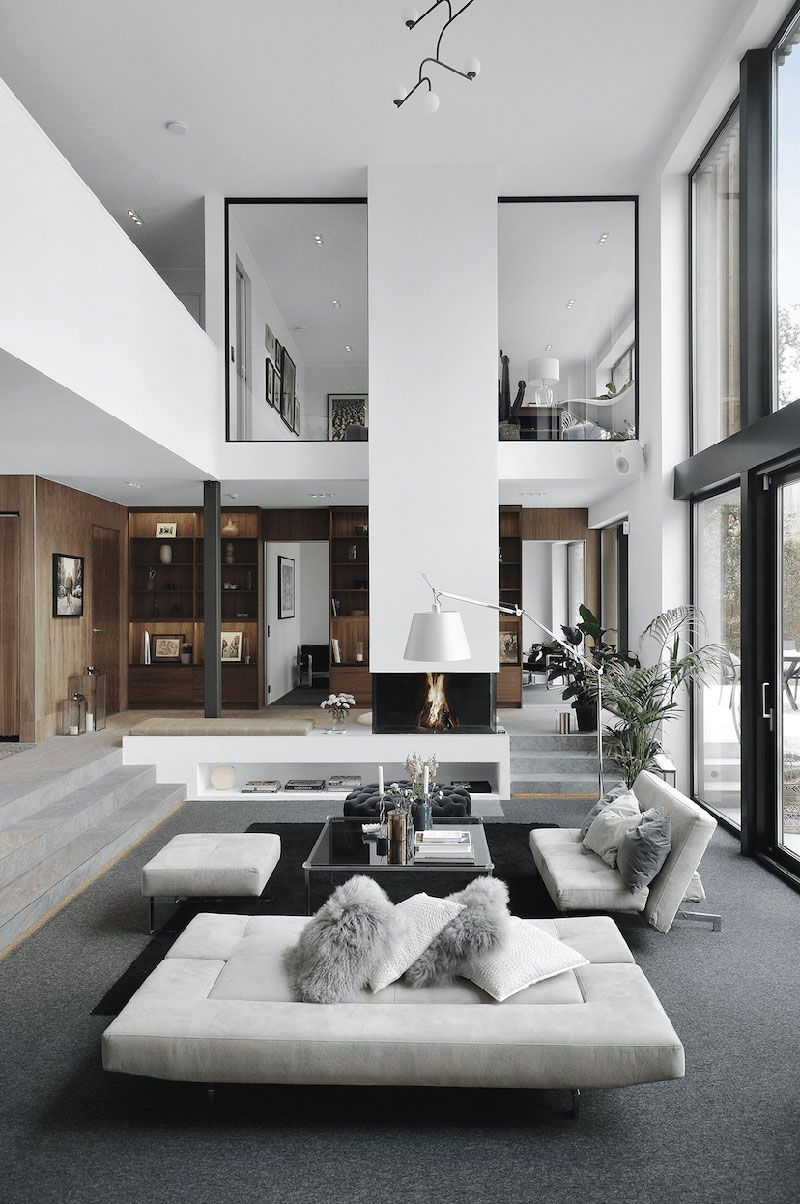 Modern villa with high ceilings in Sweden Isabella Lowengrip is one of those modern Scandinavian celebrities who got wild popularity on the wave of private blogs growth. So, in 2010, when she was \u270cPufikhomes - source of home inspiration #livingroomdesigns