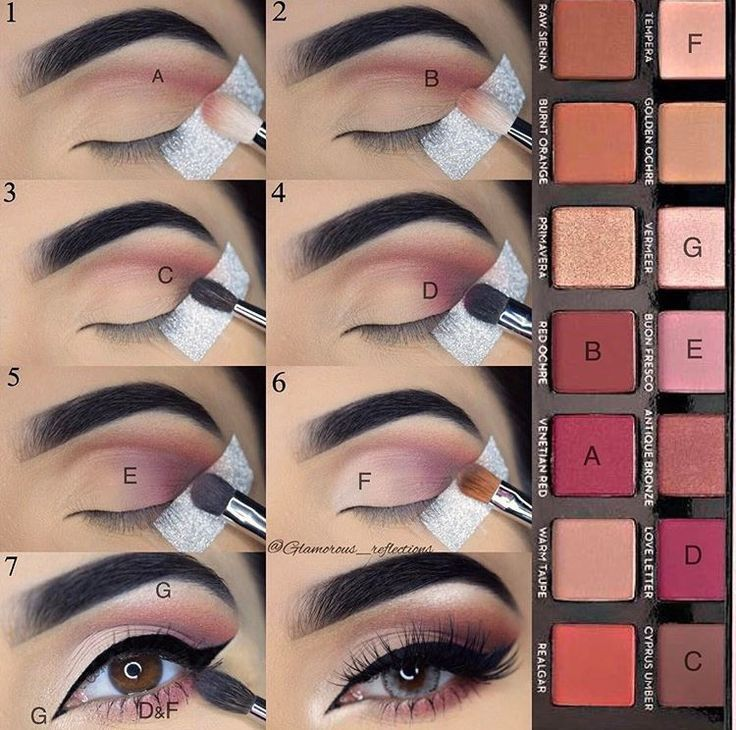 Step by step pictorial makeup look using modern renaissance by @glamorous_reflec