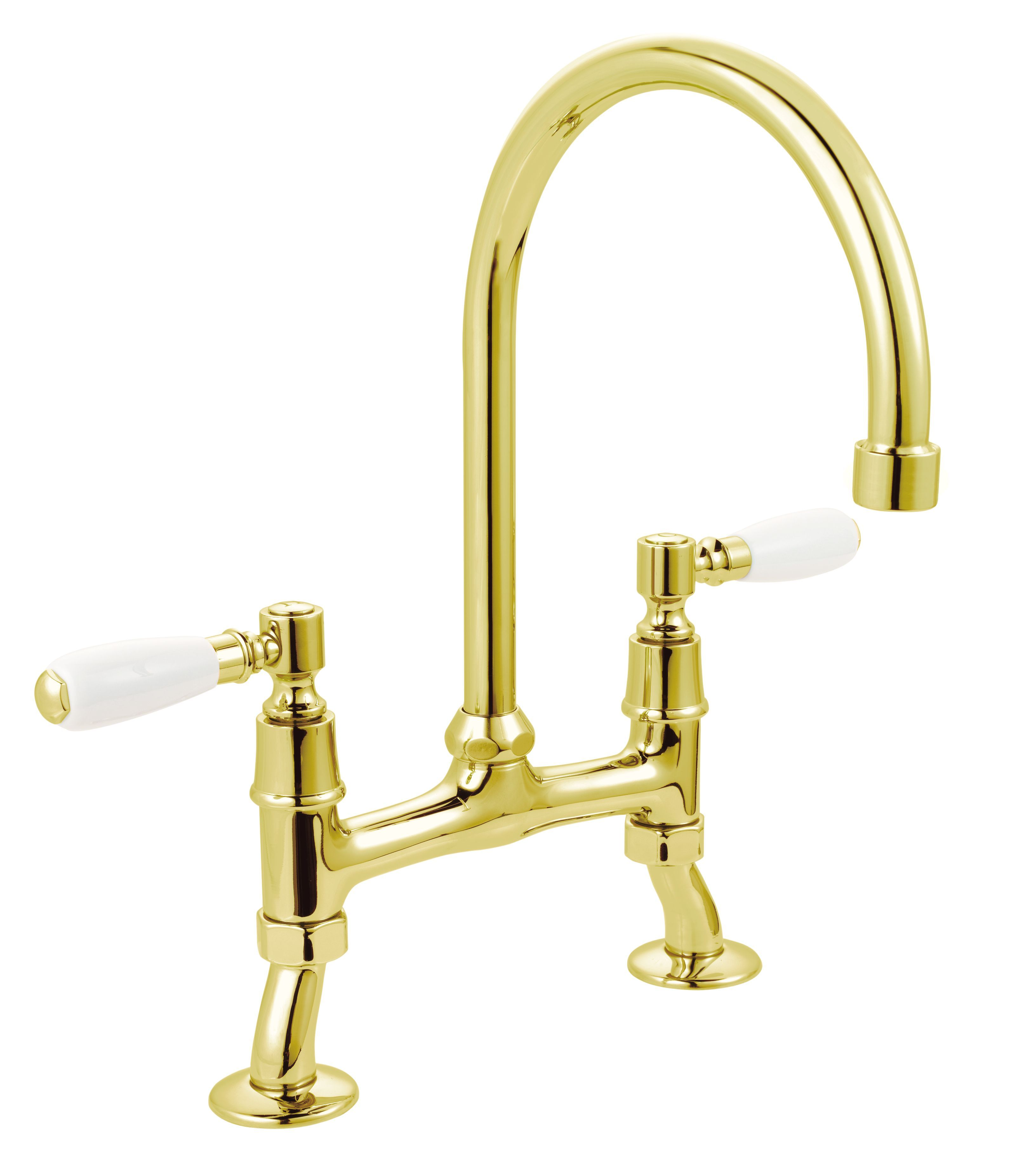 Cooke Lewis Chambley Traditional Brass Effect Deck Mixer Tap