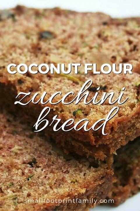 Coconut Flour Zucchini Bread Paleo Gluten Free Vegetarian Recipe Coconut Flour Recipes Recipes Paleo Baking