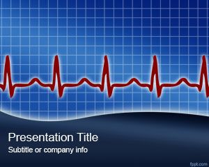 Heart Rythm Powerpoint Template Is A Free Health Monitor
