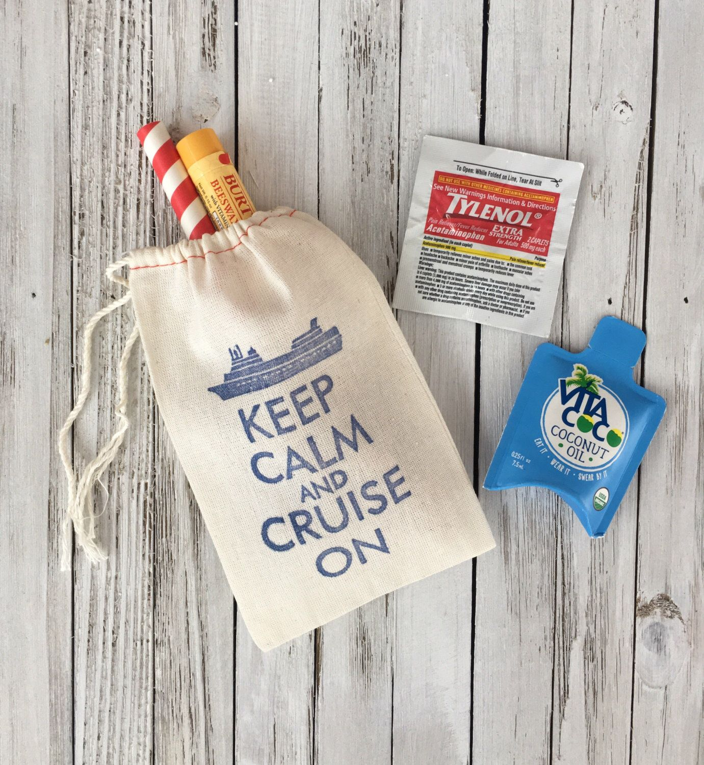 Keep Calm and Cruise On Favors - Destination Wedding Welcome Bags ...
