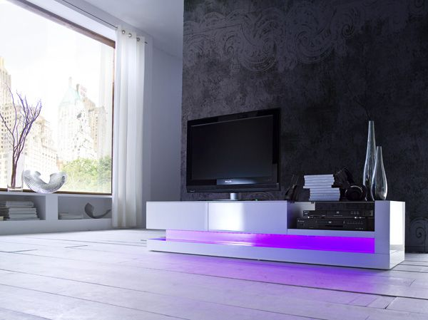 Tv Lowboard Frieda Inklusive Rgb Led Beleuchtung Mit
