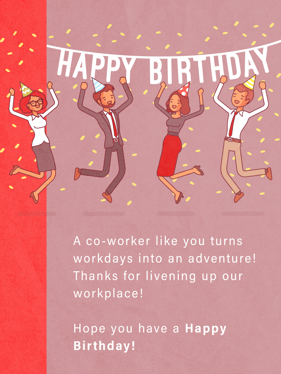 Office Party Birthday Cards For Co Workers Birthday Greeting Cards By Davia Birthday Wishes For Coworker Beautiful Birthday Cards Birthday Cards