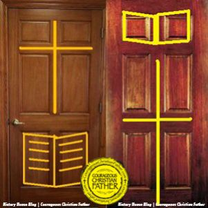 Charmant 6 Panel Door   Cross U0026 Bible Door   Christian Door