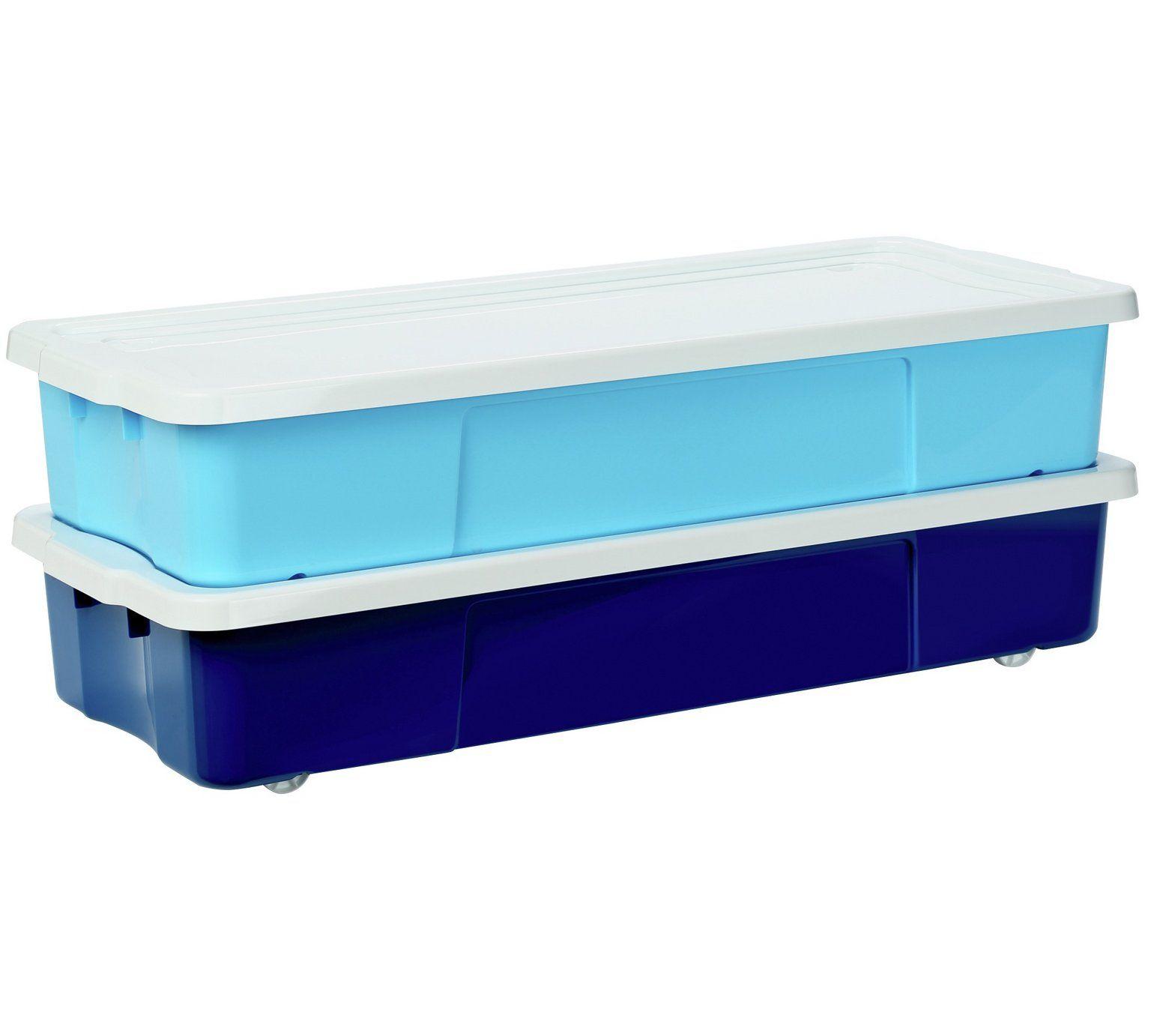 Buy argos home set of 2 45 litre blue underbed storage