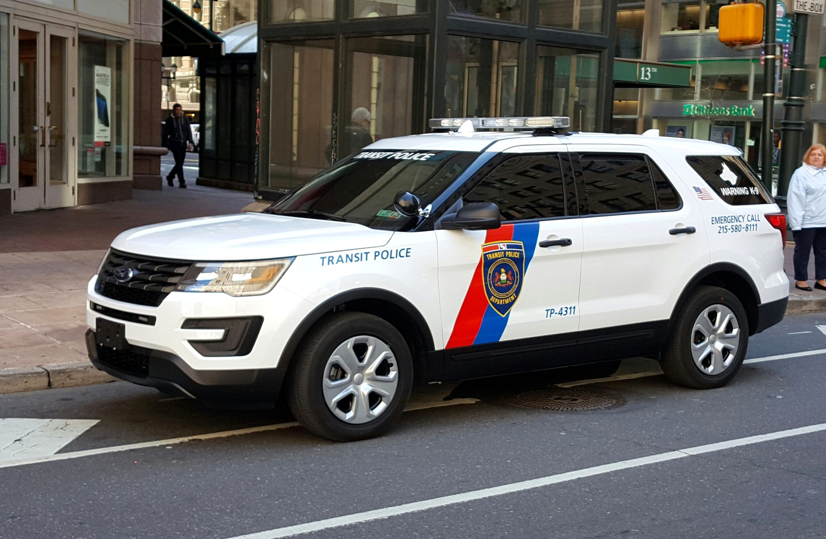 Philadelphia Pennsylvania Septa Transit Police Ford Vehicle