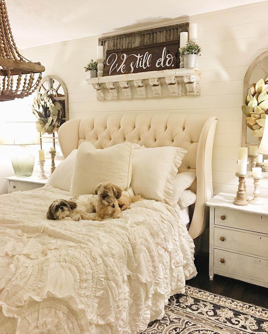 wonderful romantic shabby chic bedroom | Liz Marie Blog on Instagram | Chic master bedroom, Shabby ...