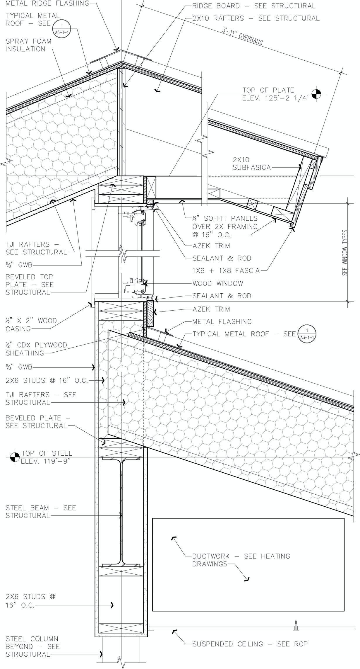 Gutters And Cornices For Masonry Walls Detailed Drawings Architecture Architecture Details