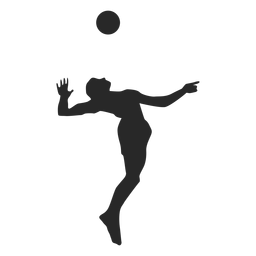 Jump Serve Volleyball Silhouette Volleyball Silhouette Volleyball Silhouette