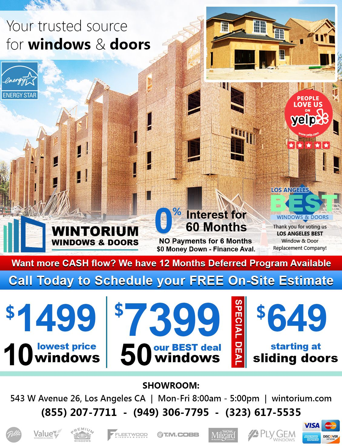 50 Windows For Only 7 399 Windows And Doors Residential Windows Types Of Doors