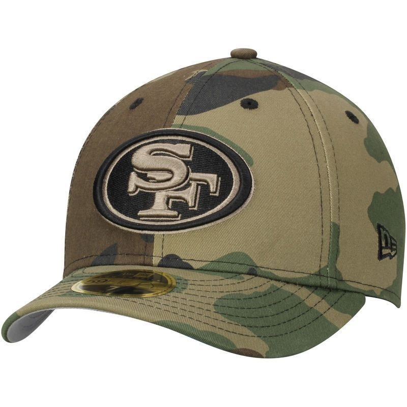 wholesale dealer 8eb0a f8707 get san francisco 49ers new era woodland camo low profile 59fifty fitted hat  db250 1b2c8