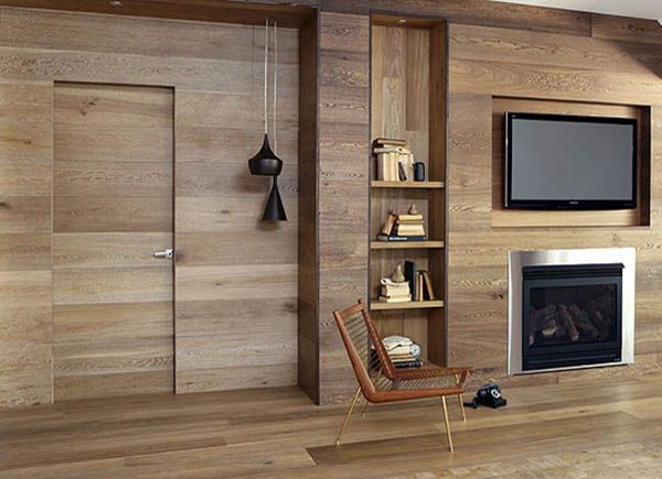 Elegant Wood Furniture And Wooden Wall Panelling Are Modern Interior Design Trends  That Create Eco Friendly Room