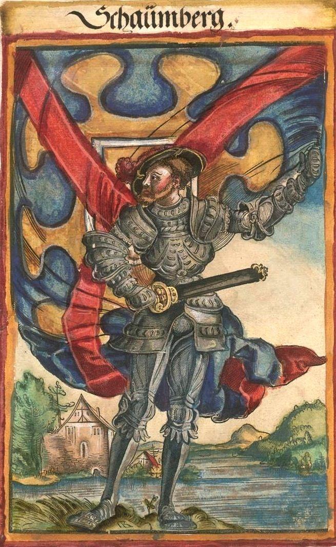 "[Schaümberg] (f°131) -- Koebel, Jacob, ""Wapen des heyligen römischen Reichs teutscher Nation"", Franckfurth am Main, 1545 [BSB Ms. Rar. 2155]"