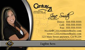 Century Business Cards Very Popular Design For Realtor - Century 21 business cards template