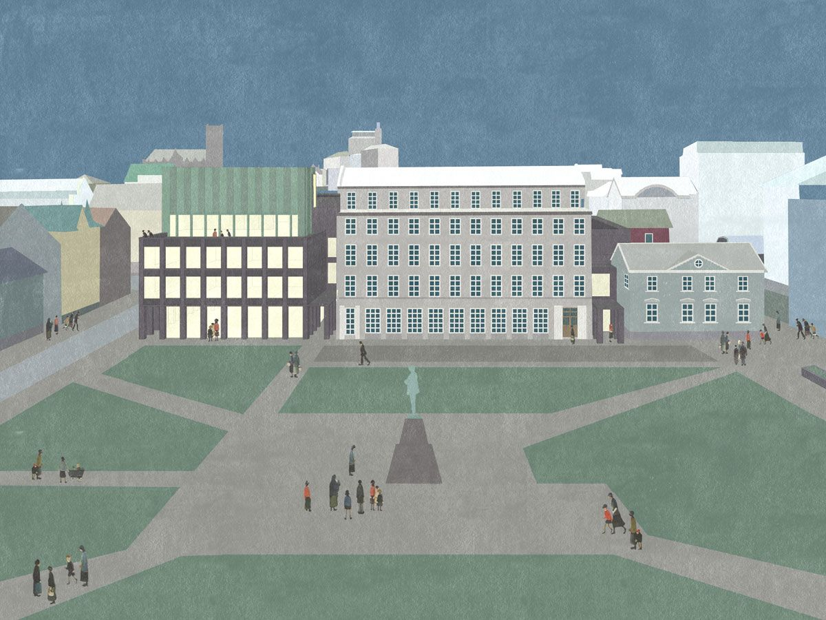 DRDH architects London KVOSIN Hotel Reykjavík, Iceland Textured drawing http://www.drdharchitects.co.uk/#kvosin_hotel
