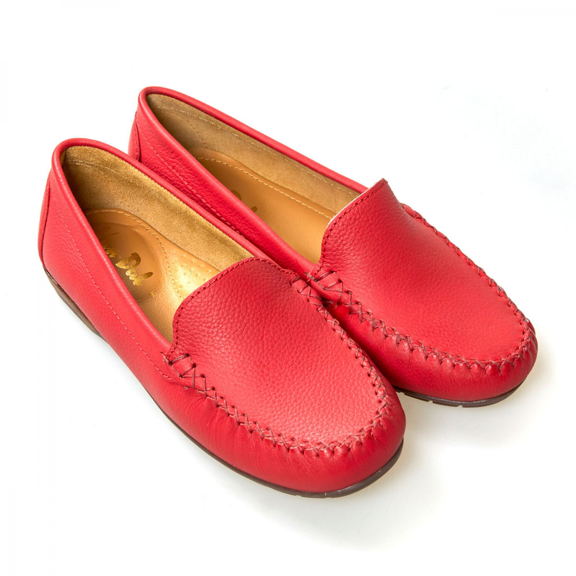Van Dal Shoes - Jemima X Loafers in Red Leather | Weekend shoes ...
