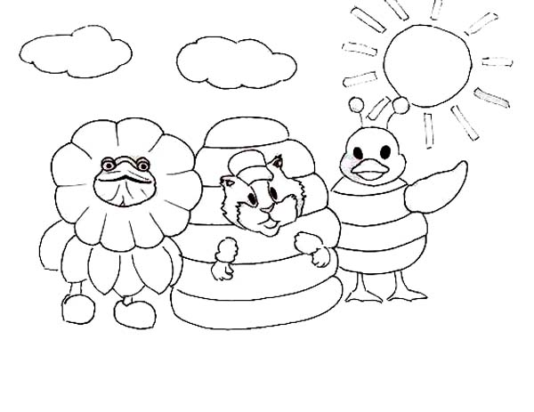 Turtle Tuck Linny And Ming Ming Playing With Costume Wonder Pets Coloring Page Coloring Sun Wonder Pets Coloring Pages Pets