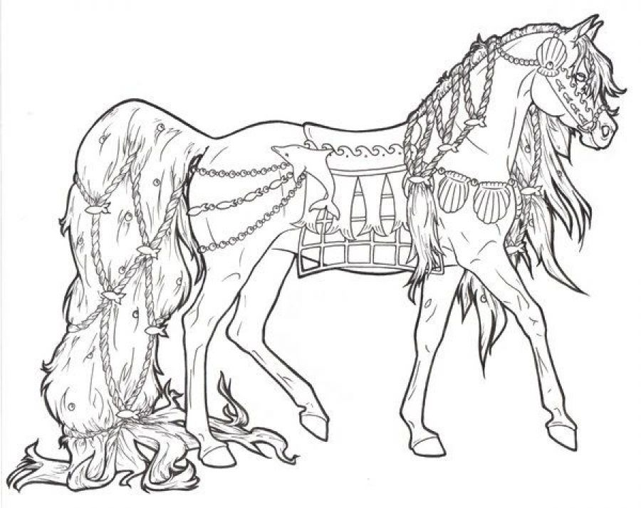 Difficult Coloring Pages Of Horse For Adults Letscolorit Com