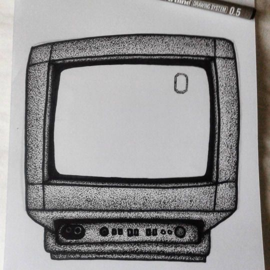 VVB - Branding & Illustration - Television /TV - Pointilism - Drawing / Sketch