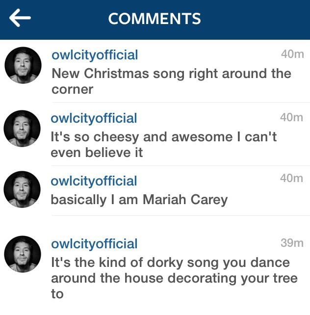 Basically I Am Mariah Carey Owl City New Christmas Songs Life Is Hard