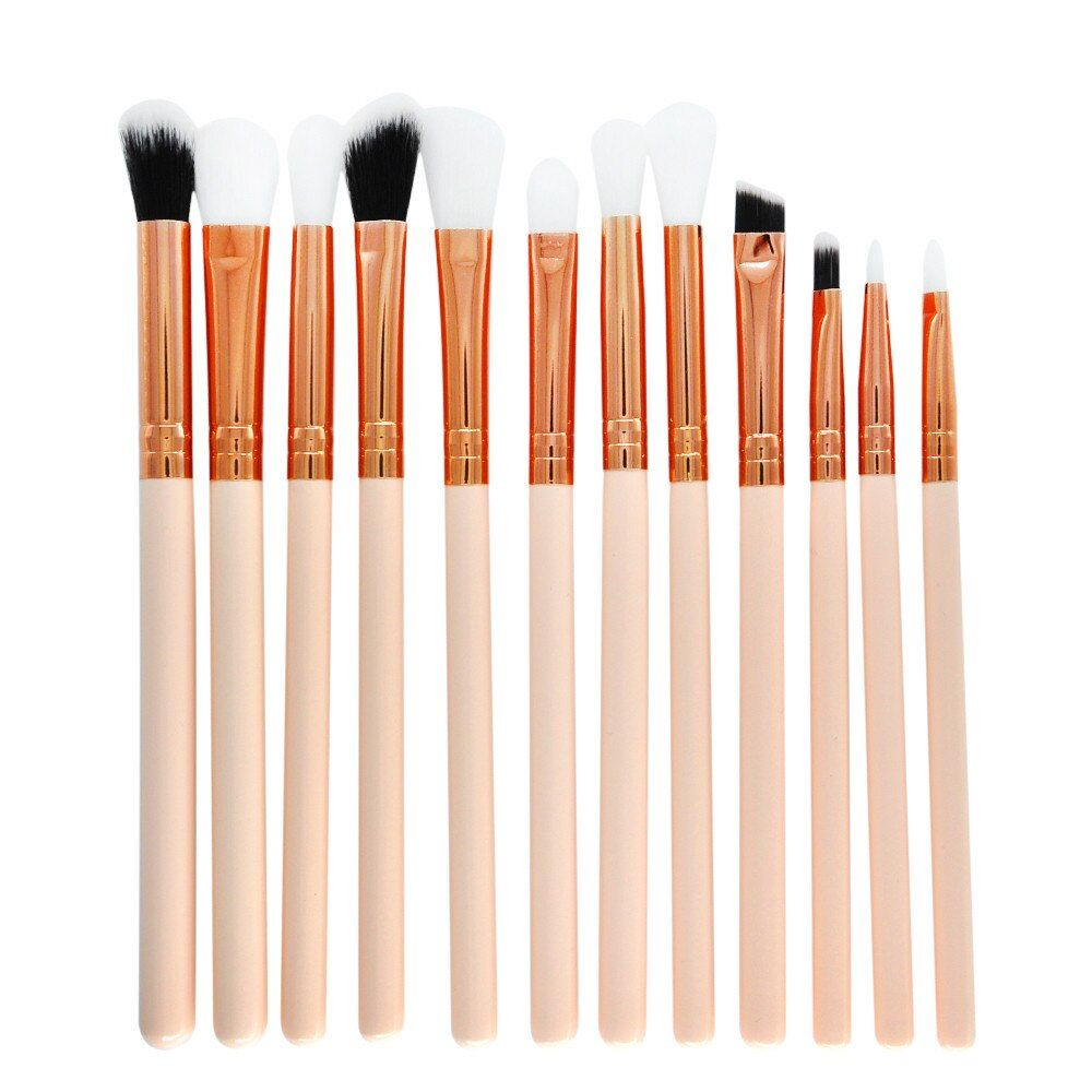 12PCS Makeup Brush Set Professional Face Eye Shadow Eyeliner Foundation Blush Lip Makeup Brushes Powder Liquid Cream Cosmetics