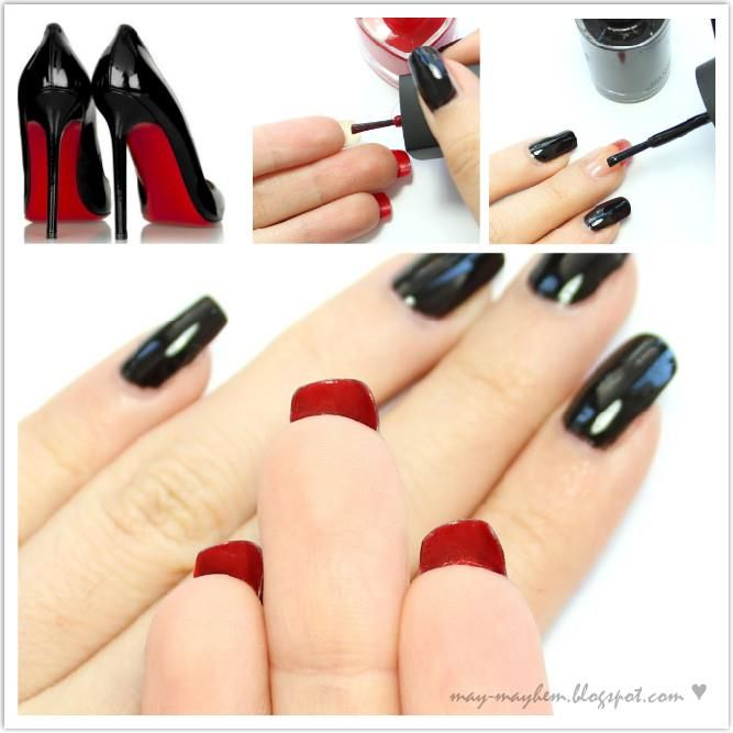 Love this idea of Christian Louboutin inspired nails - great look on ...
