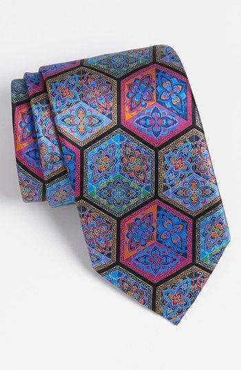 c02dc08f Ermenegildo Zegna 'Quindici' Print Silk Tie | Nordstrom ...