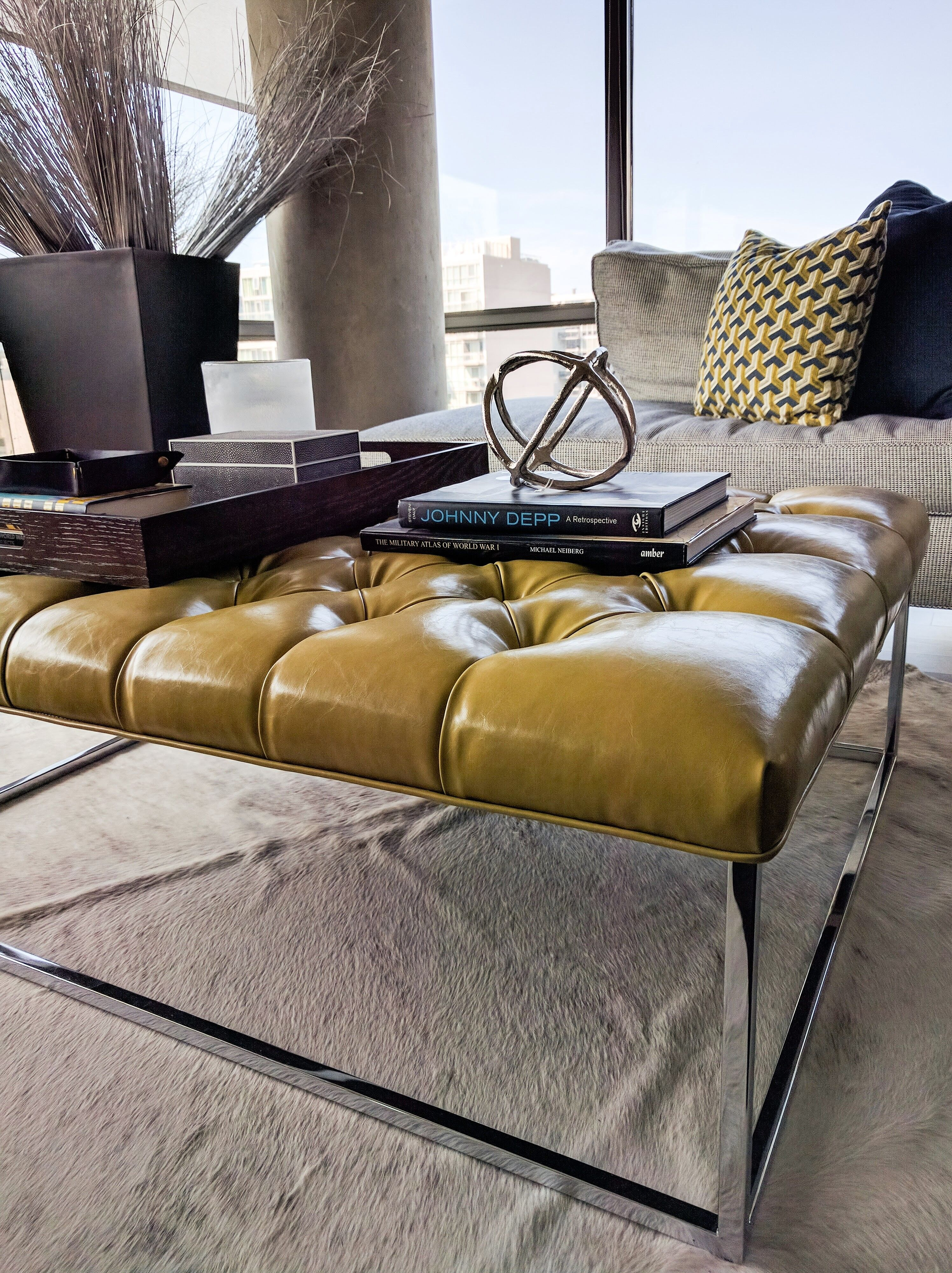 Coffee table sourcing styling for jessica kelly design