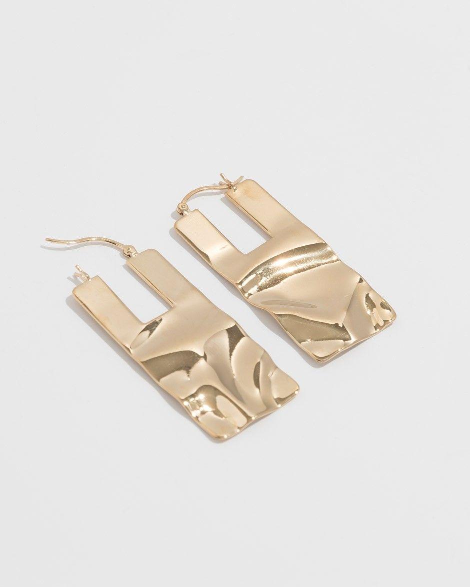 Beaufille Ripple Sheet Earrings In 14k Yellow Gold Gold 14k Yellow Gold 14k Gold Plated