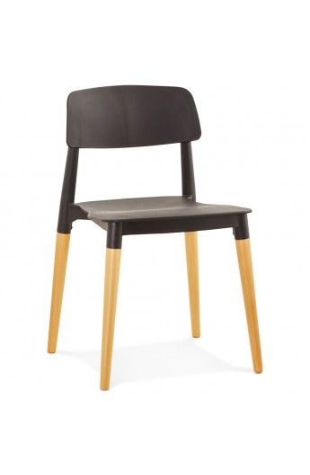 Chaise Moderne TRENDY Noire Style Scandinave Chaises Chairs