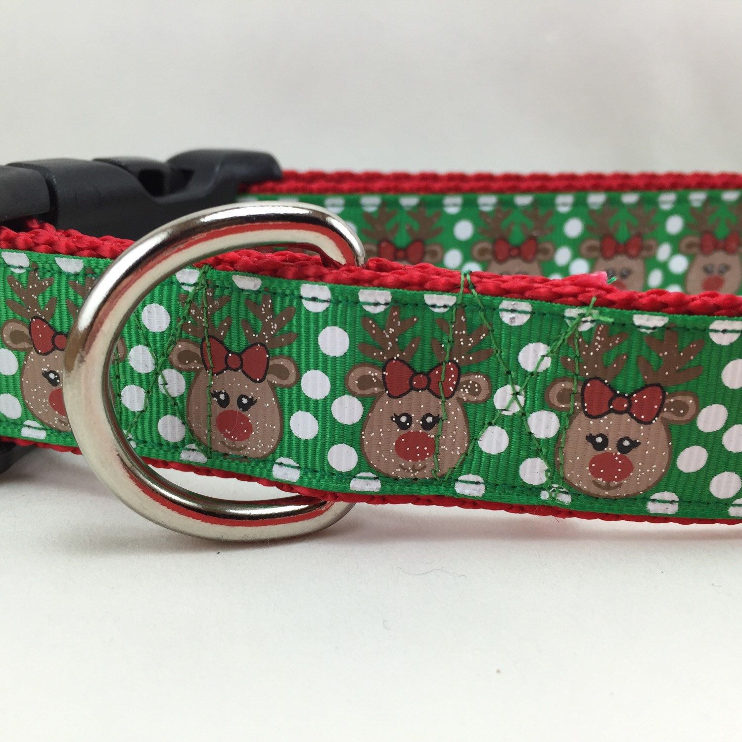 New style! Your dog needs a glittery Rudolph for Christmas