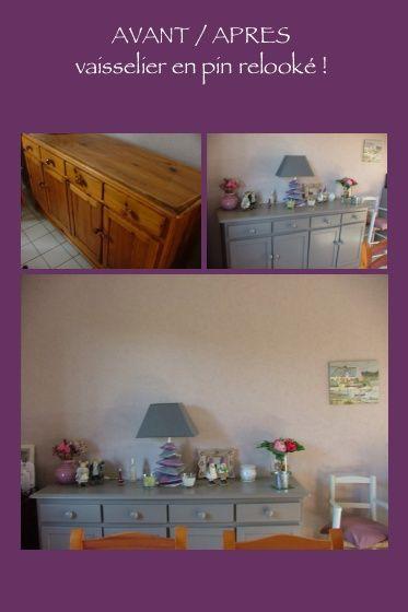 Le relooking de mon meuble (vaisselier) AVANT   APRES !! (peinture