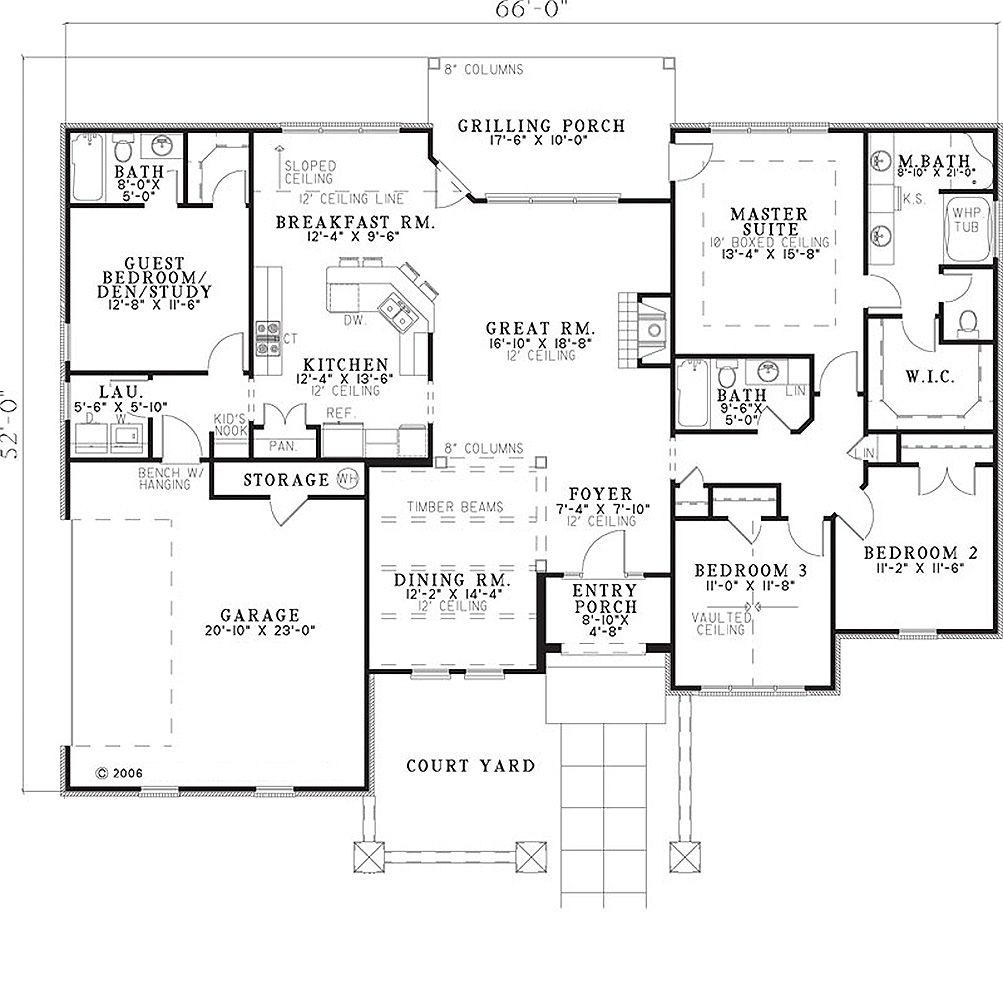 European Style House Plan 4 Beds 3 Baths 2075 Sq Ft Plan 17 654 In 2020 House Plans One Story Mediterranean Style House Plans Best House Plans