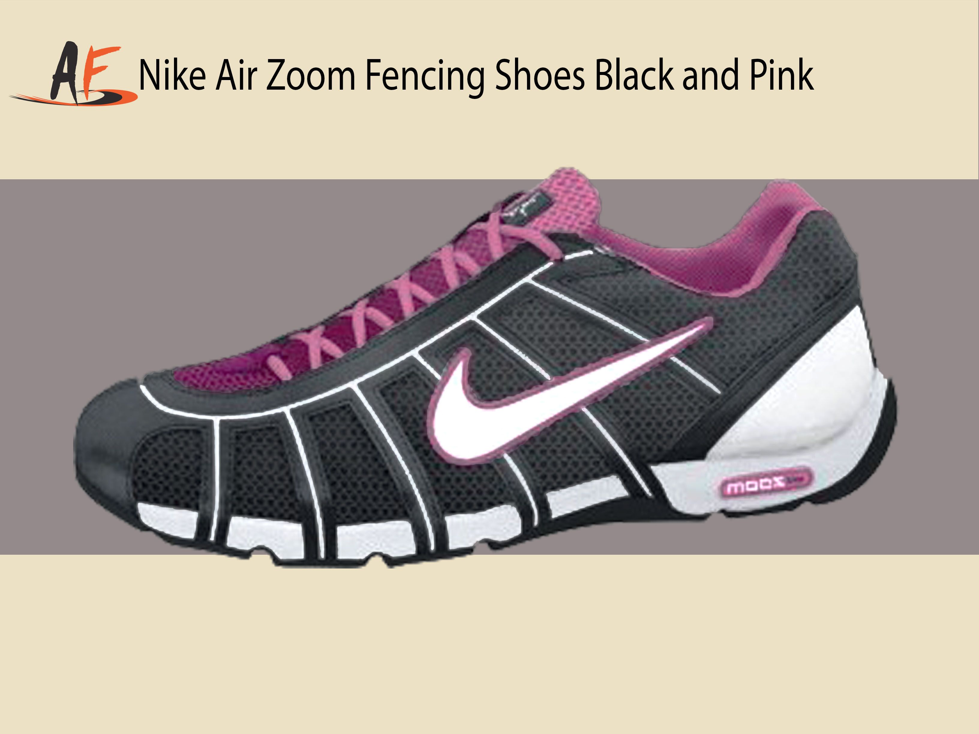 Nike Air Zoom Fencing Shoes Black and Pink Fencing Shoes 116c9f4a7