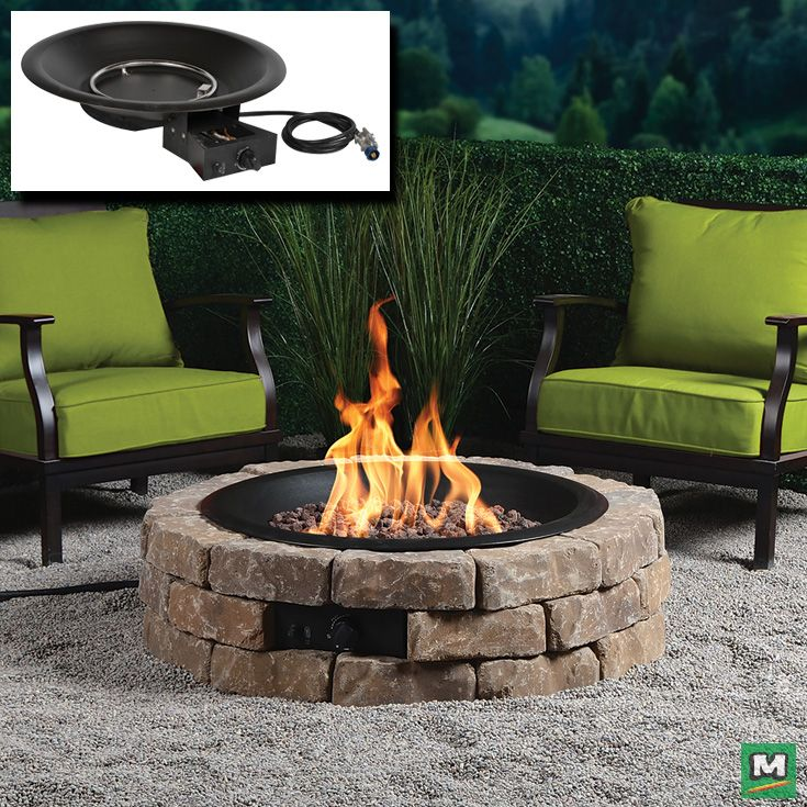 Building Your Very Own Fire Pit Isn T Hard Especially When You Use A Backyard Creations Diy 35 Gas Fire Pit Gas Fire Pit Insert Gas Firepit Diy Gas Fire Pit