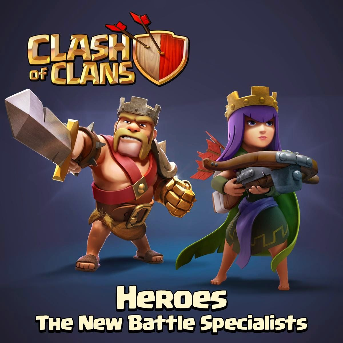 Barbarian King And Archer Queen Clash Of Clans Heroes HD