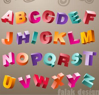 طريقة رسم الحروف الانجليزية مجسمة ثلاثية Font Design Alphabet Graffiti Alphabet Cool Lettering