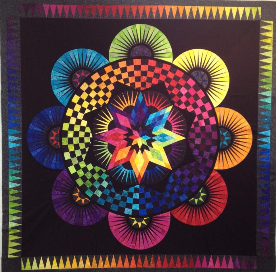 A Stunning Quot Circle Of Life Quot Quilt Made By Lisa Richards