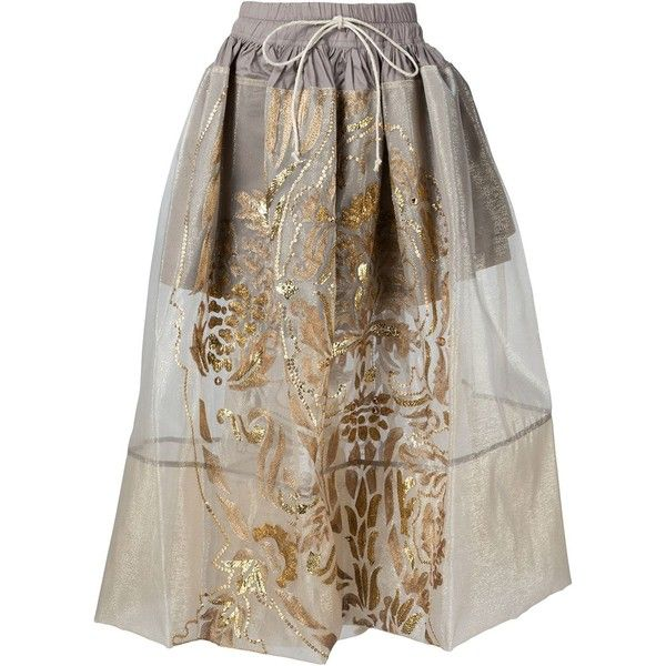 Vivienne Westwood Gold Label Nedda Skirt (5 290 AUD) ❤ liked on Polyvore featuring skirts, white, vivienne westwood gold label, white knee length skirt and white skirt